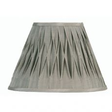 Grey Pinched Pleat Fabric Lamp Shade 14 inch OAKS601/14GY - Oaks Lighting